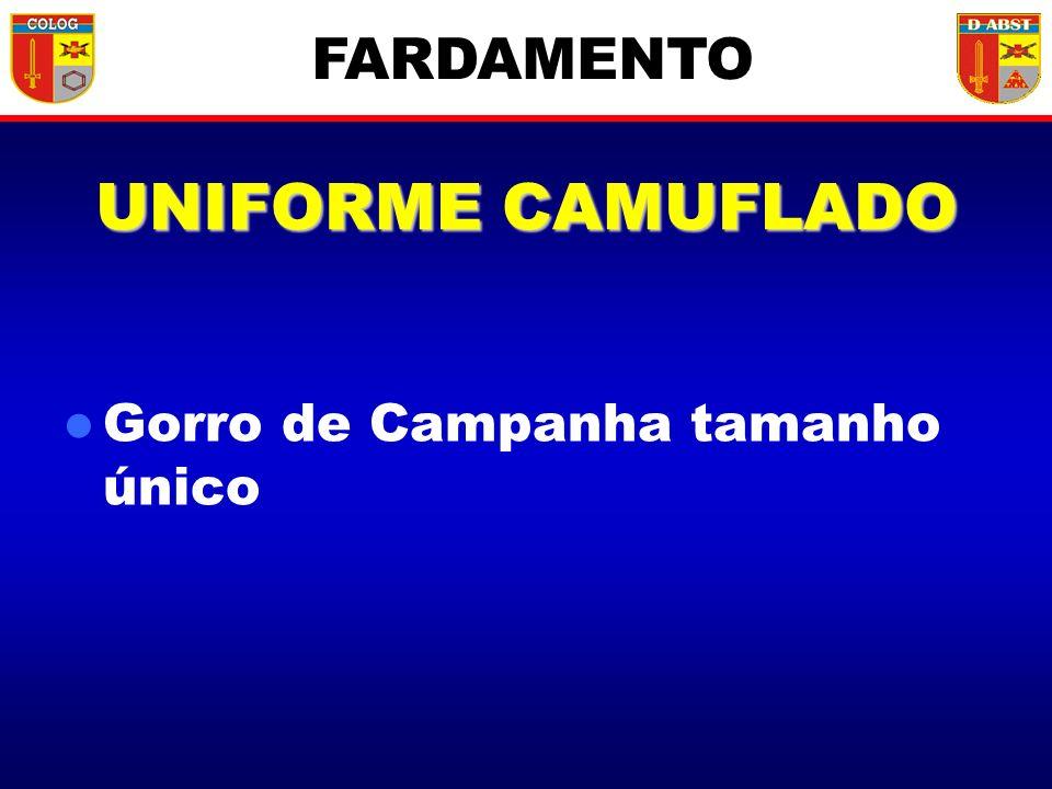 UNIFORME CAMUFLADO Gorro de Campanha tamanho único FARDAMENTO