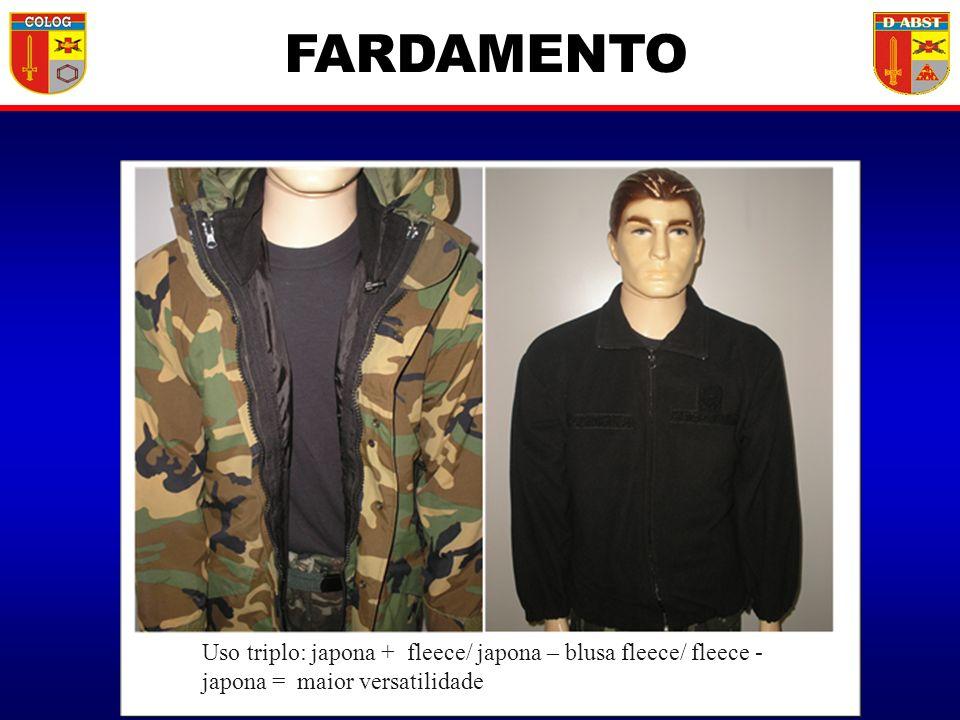 Uso triplo: japona + fleece/ japona – blusa fleece/ fleece - japona = maior versatilidade FARDAMENTO