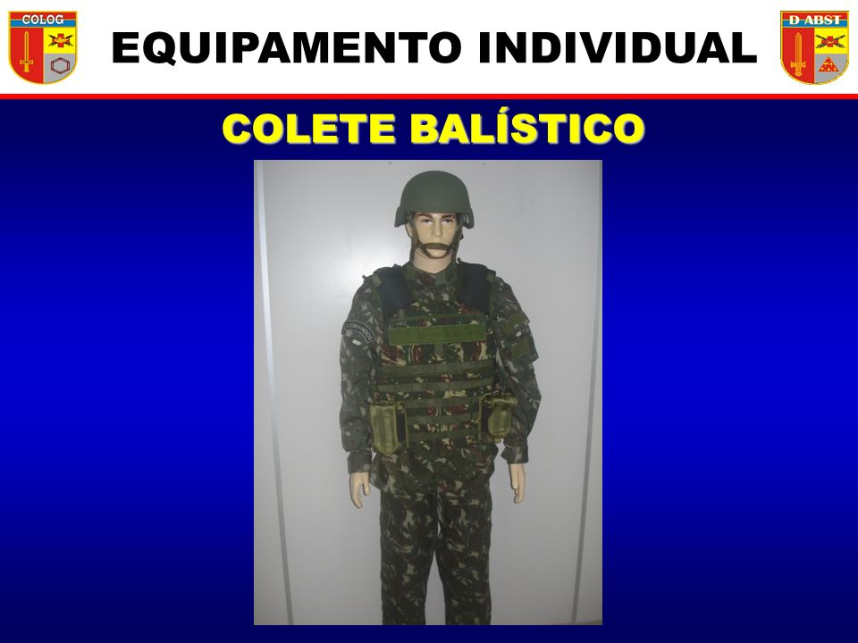 COLETE BALÍSTICO EQUIPAMENTO INDIVIDUAL