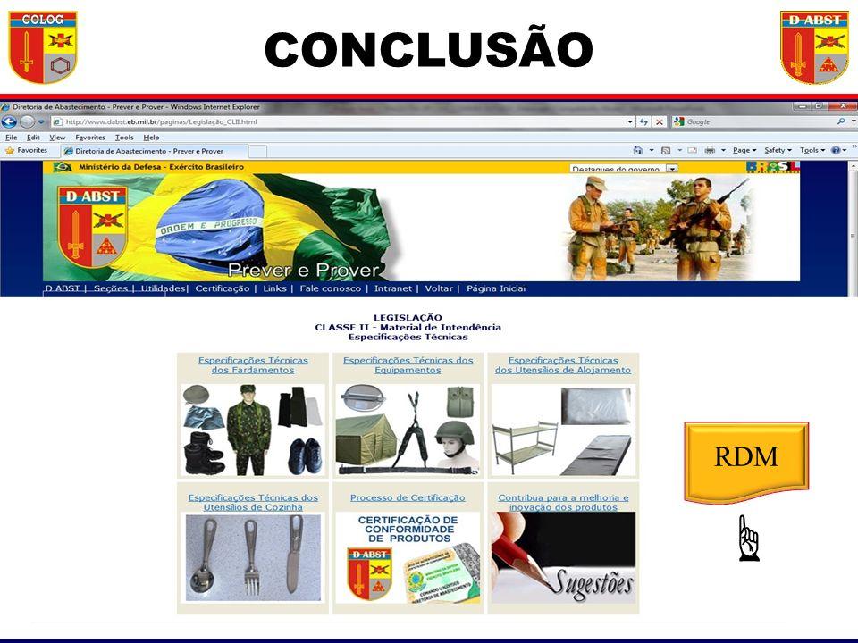 RDM CONCLUSÃO