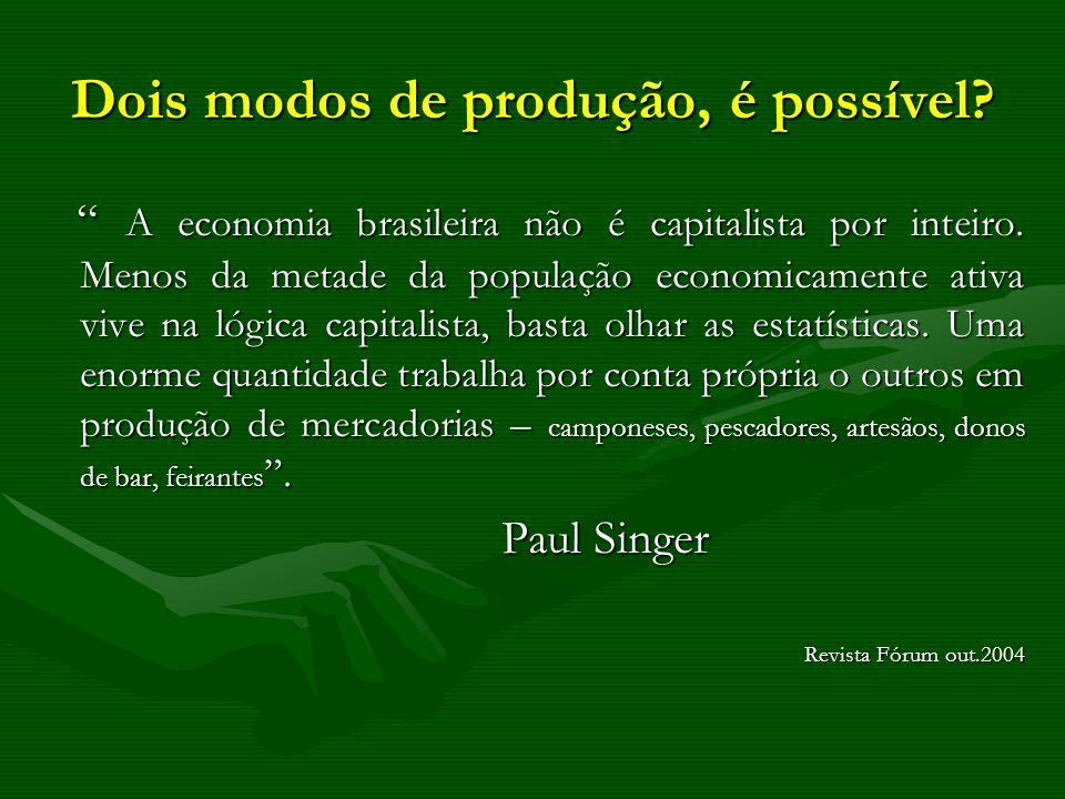 Dois modos de produção, é possível? A economia brasileira não é capitalista por inteiro. Menos da metade da população economicamente ativa vive na lóg