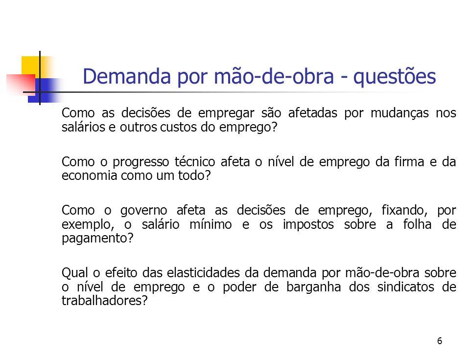 157 DEMANDA POR MÃO-DE-OBRA NOTAS DE AULA PROF.