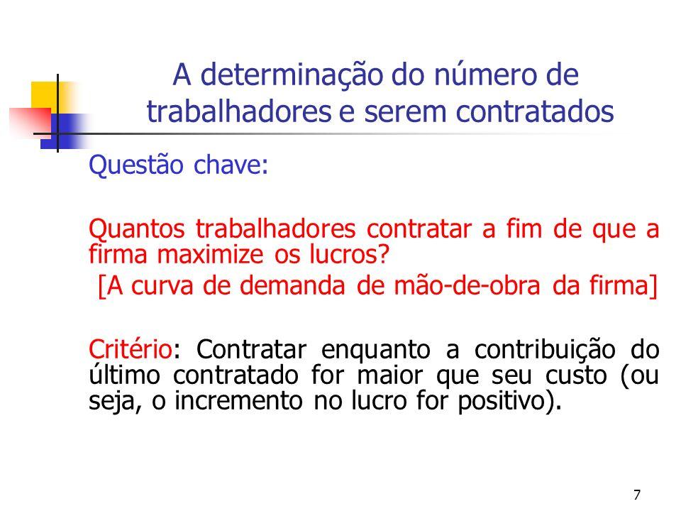108 A elasticidade da demanda por mão-de-obra Esta regra segue do fato de que o tamanho do efeito substituição depende da curvatura da isoquanta.
