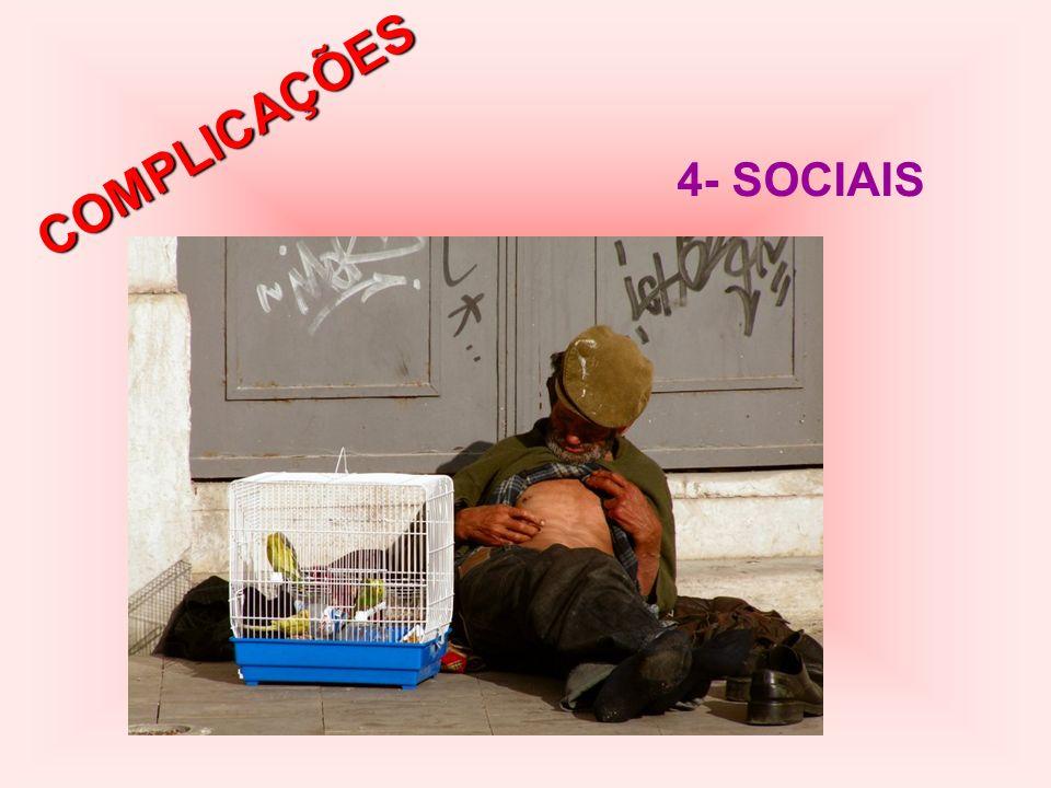 COMPLICAÇÕES 4- SOCIAIS