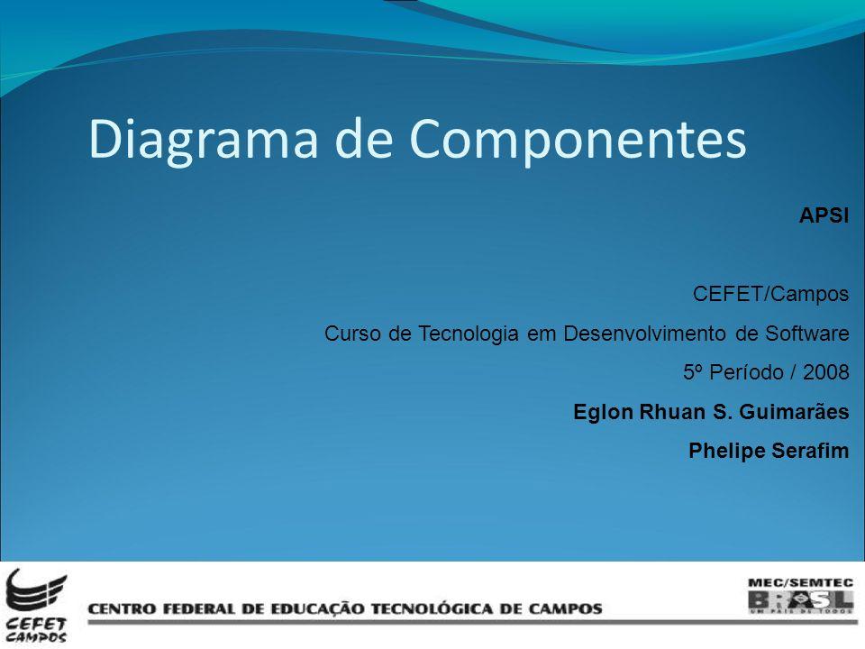 APSI CEFET/Campos Curso de Tecnologia em Desenvolvimento de Software 5º Período / 2008 Eglon Rhuan S.
