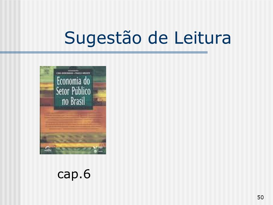 50 Sugestão de Leitura cap.6
