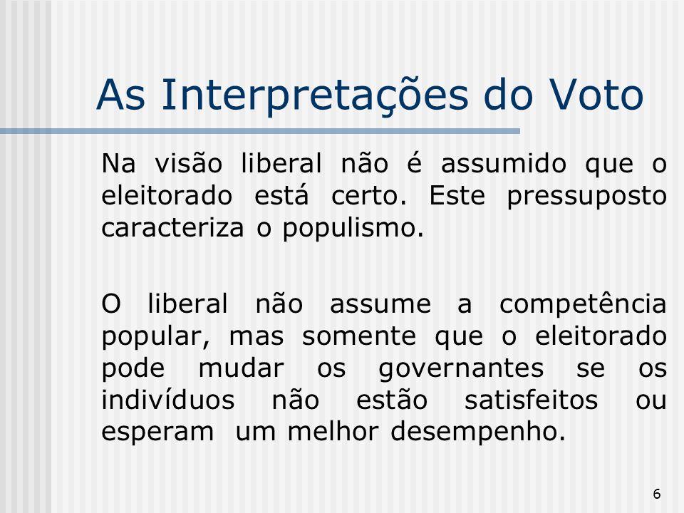 17 É um conceito fundamental para entender o funcionamento dos processos de votação nas instituições democráticas, sendo particularmente útil no estudo do funcionamento do Legislativo e de suas comissões.