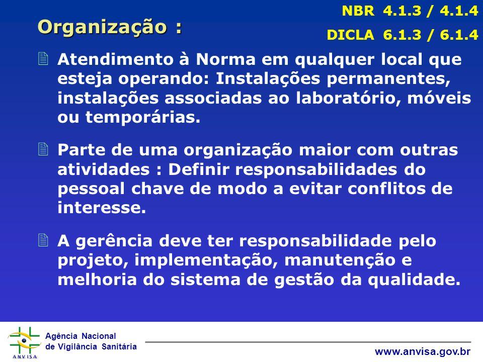 Agência Nacional de Vigilância Sanitária www.anvisa.gov.br 2 Atendimento à Norma em qualquer local que esteja operando: Instalações permanentes, instalações associadas ao laboratório, móveis ou temporárias.