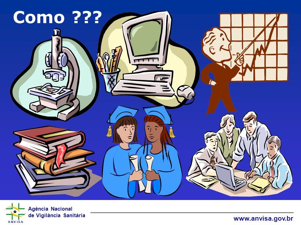 Agência Nacional de Vigilância Sanitária www.anvisa.gov.br Como