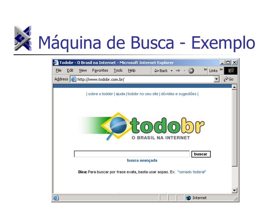 Máquina de Busca - Exemplo