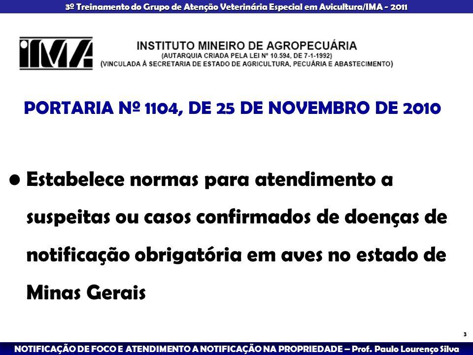 – Prof.Paulo Lourenço Silva NOTIFICAÇÃO DE FOCO E ATENDIMENTO A NOTIFICAÇÃO NA PROPRIEDADE – Prof.