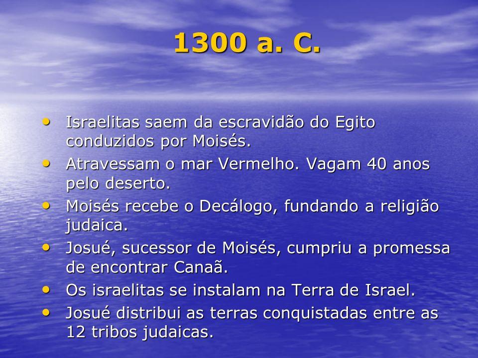 Israelitas saem da escravidão do Egito conduzidos por Moisés. Israelitas saem da escravidão do Egito conduzidos por Moisés. Atravessam o mar Vermelho.