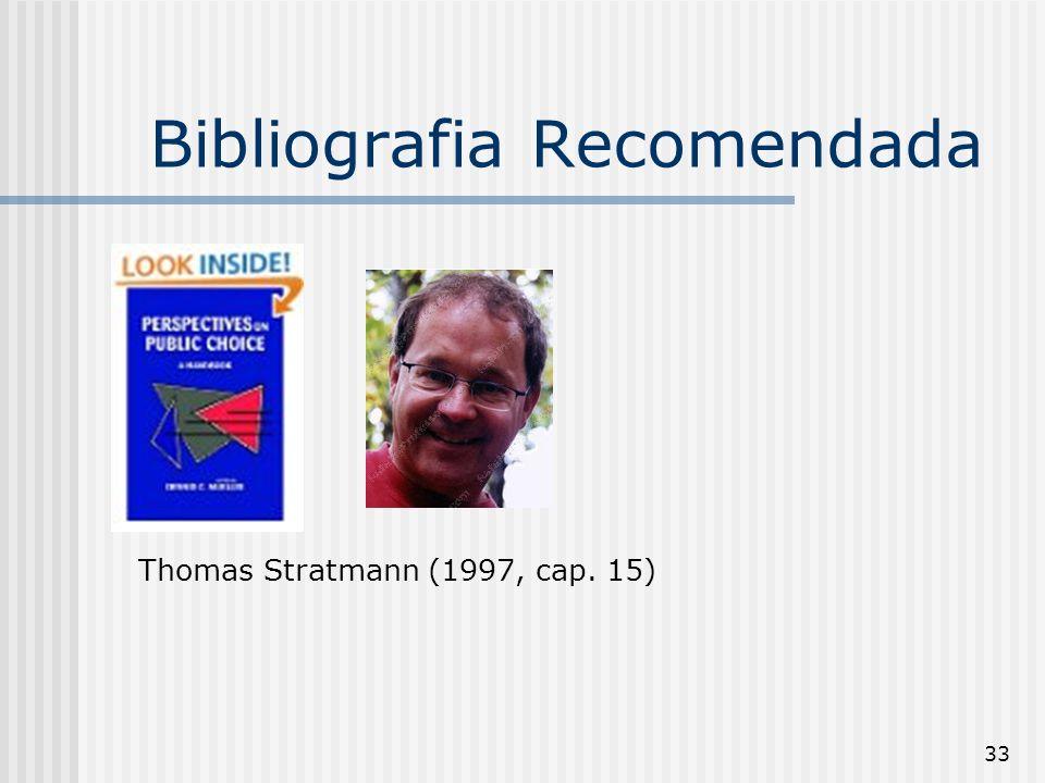 33 Bibliografia Recomendada Thomas Stratmann (1997, cap. 15)