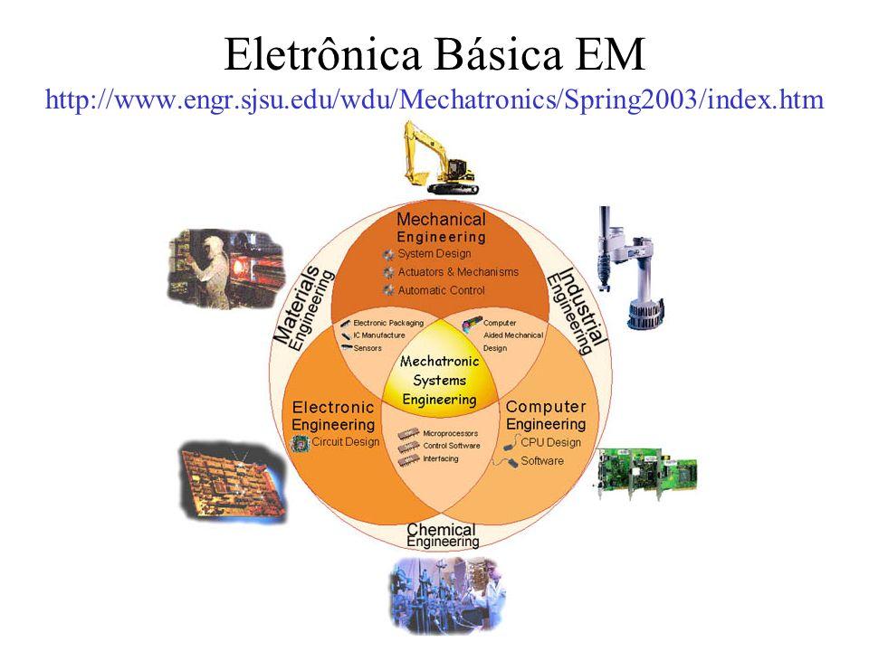 Eletrônica Básica EM http://www.engr.sjsu.edu/wdu/Mechatronics/Spring2003/index.htm