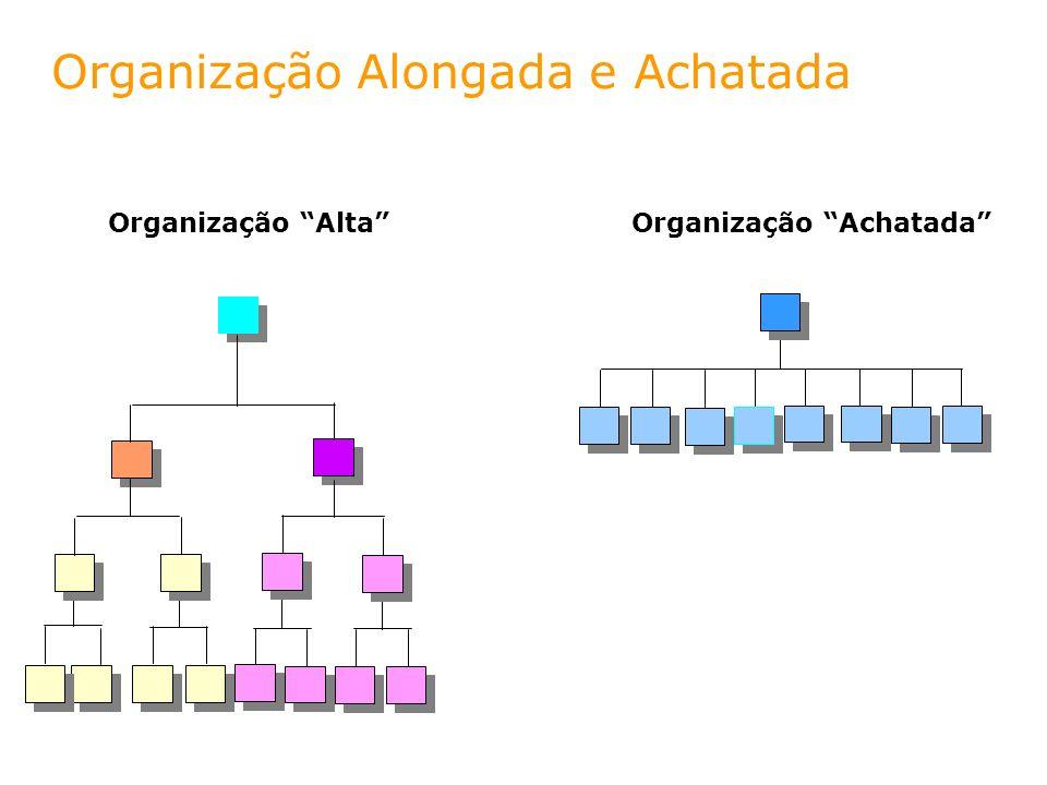 Organização Alongada e Achatada Organização AltaOrganização Achatada
