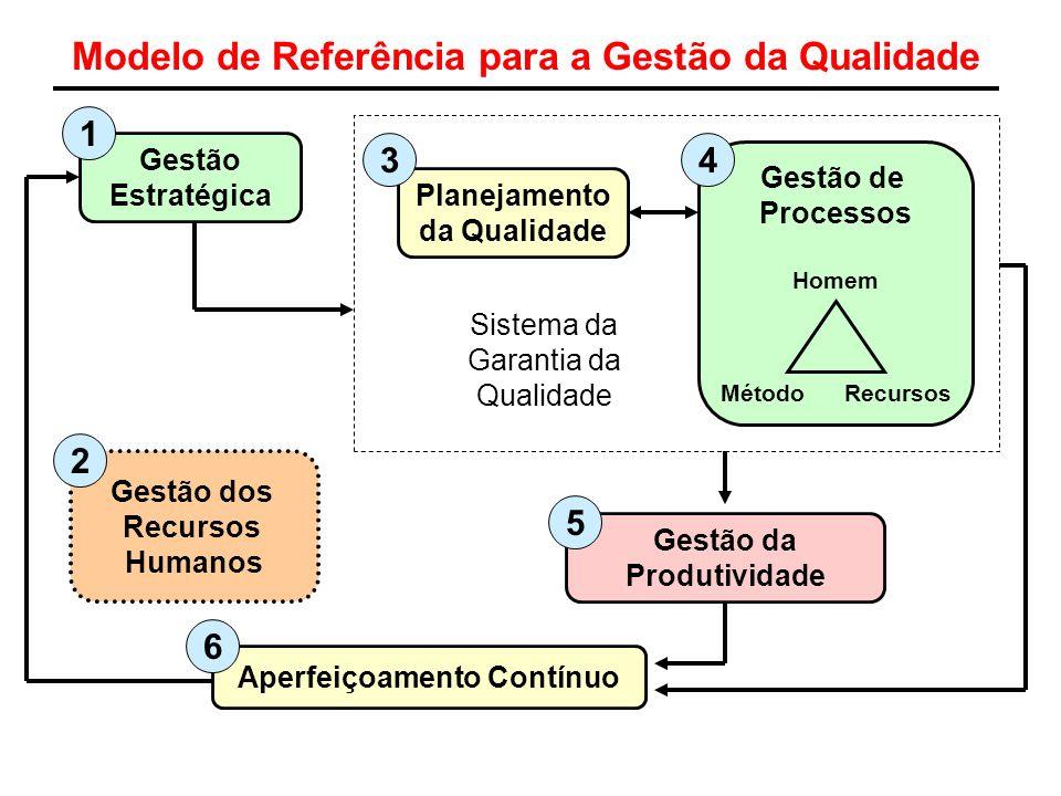 Modelo de Referência para a Gestão da Qualidade Gestão Estratégica Planejamento da Qualidade Gestão de Processos Homem Método Recursos Sistema da Gara