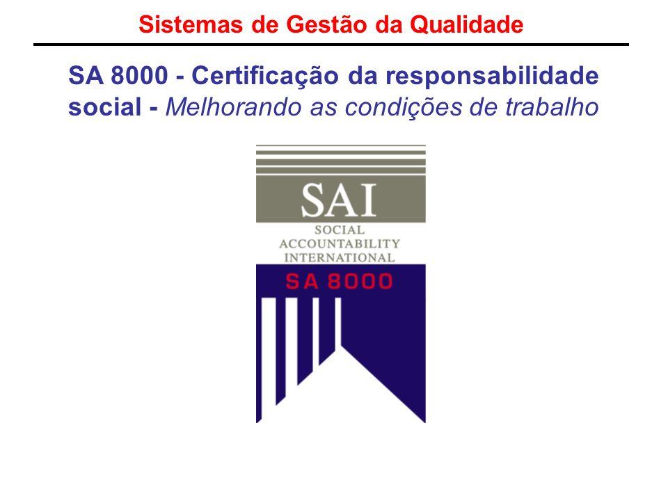 Sistemas de Gestão da Qualidade SA 8000 - Certificação da responsabilidade social - Melhorando as condições de trabalho