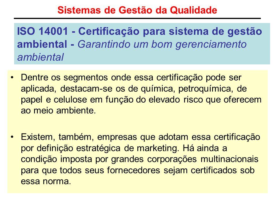 Sistemas de Gestão da Qualidade ISO 14001 - Certificação para sistema de gestão ambiental - Garantindo um bom gerenciamento ambiental Dentre os segmen
