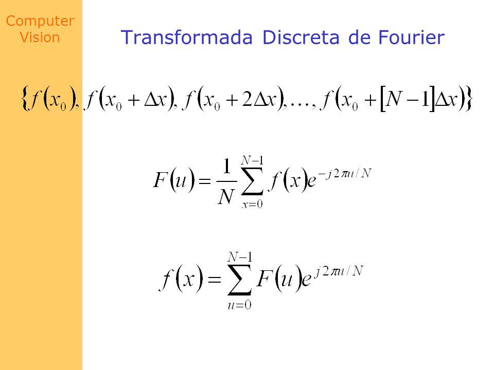 Computer Vision Transformada Discreta de Fourier