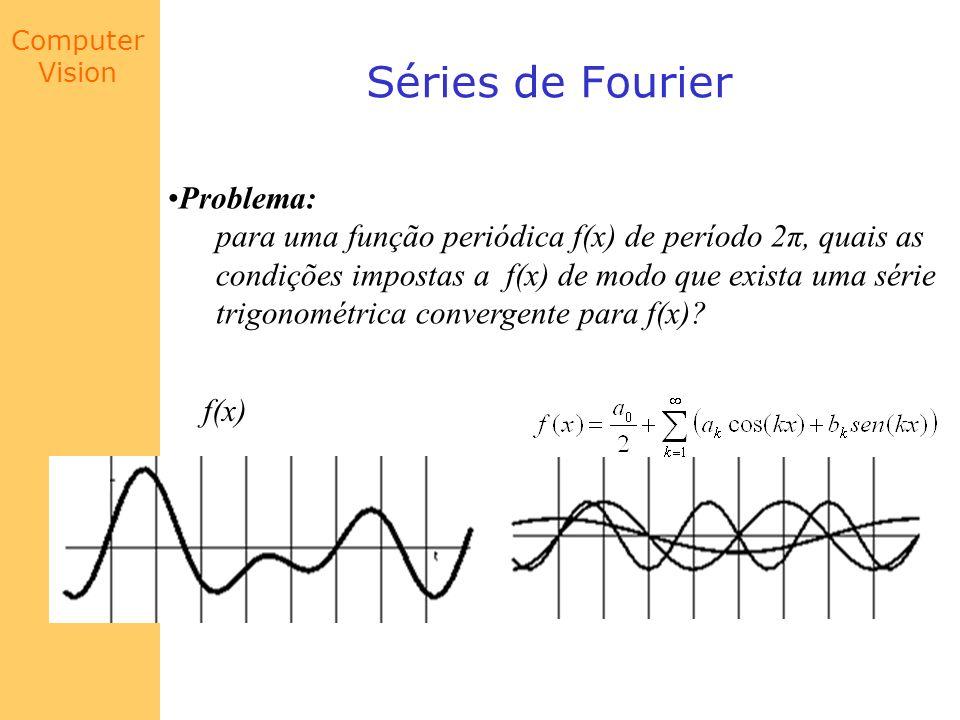 Computer Vision Séries de Fourier Problema: para uma função periódica f(x) de período 2π, quais as condições impostas a f(x) de modo que exista uma sé