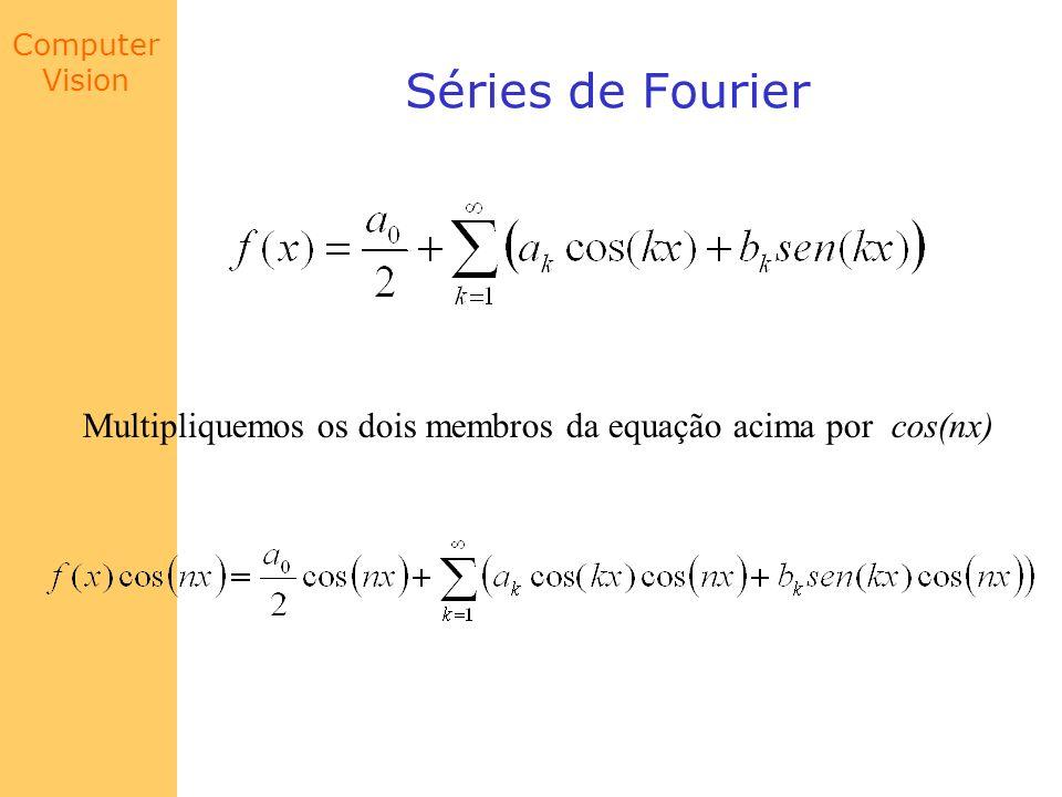 Computer Vision Séries de Fourier Multipliquemos os dois membros da equação acima por cos(nx)