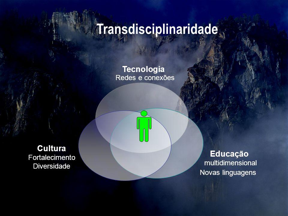 Tecnologia Cultura Fortalecimento Diversidade Educação multidimensional Novas linguagens Redes e conexões Transdisciplinaridade