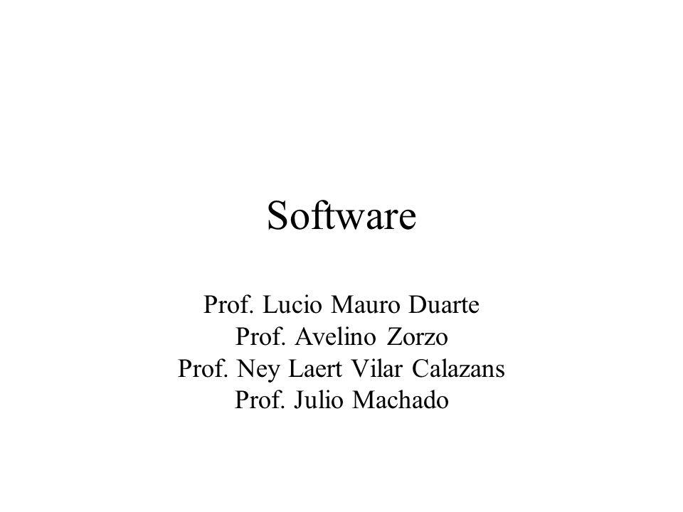 Software Prof. Lucio Mauro Duarte Prof. Avelino Zorzo Prof. Ney Laert Vilar Calazans Prof. Julio Machado