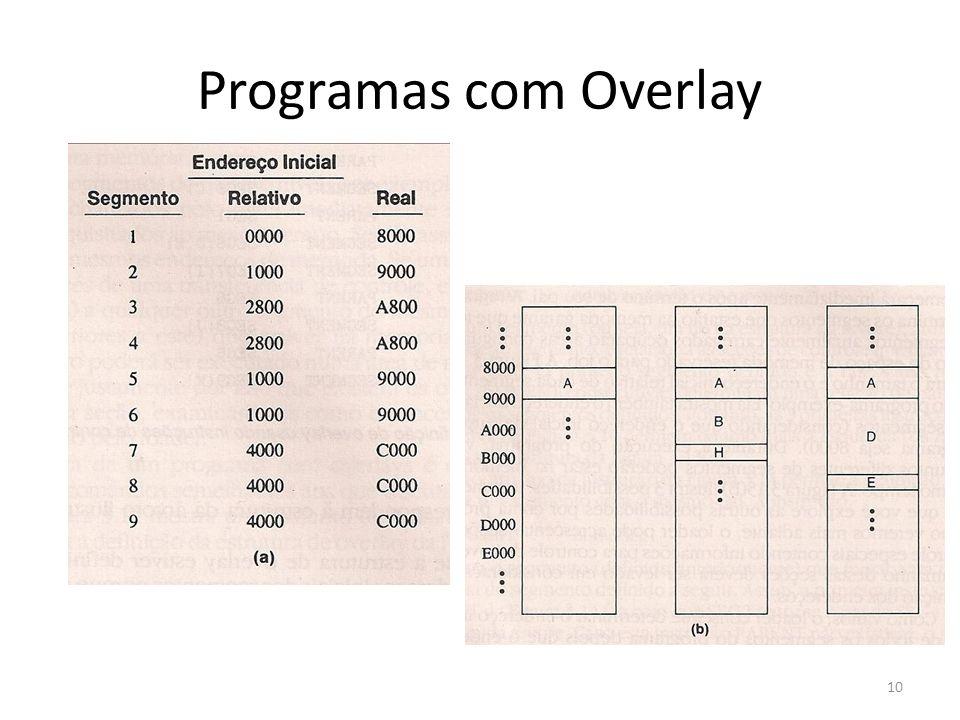 Programas com Overlay 10