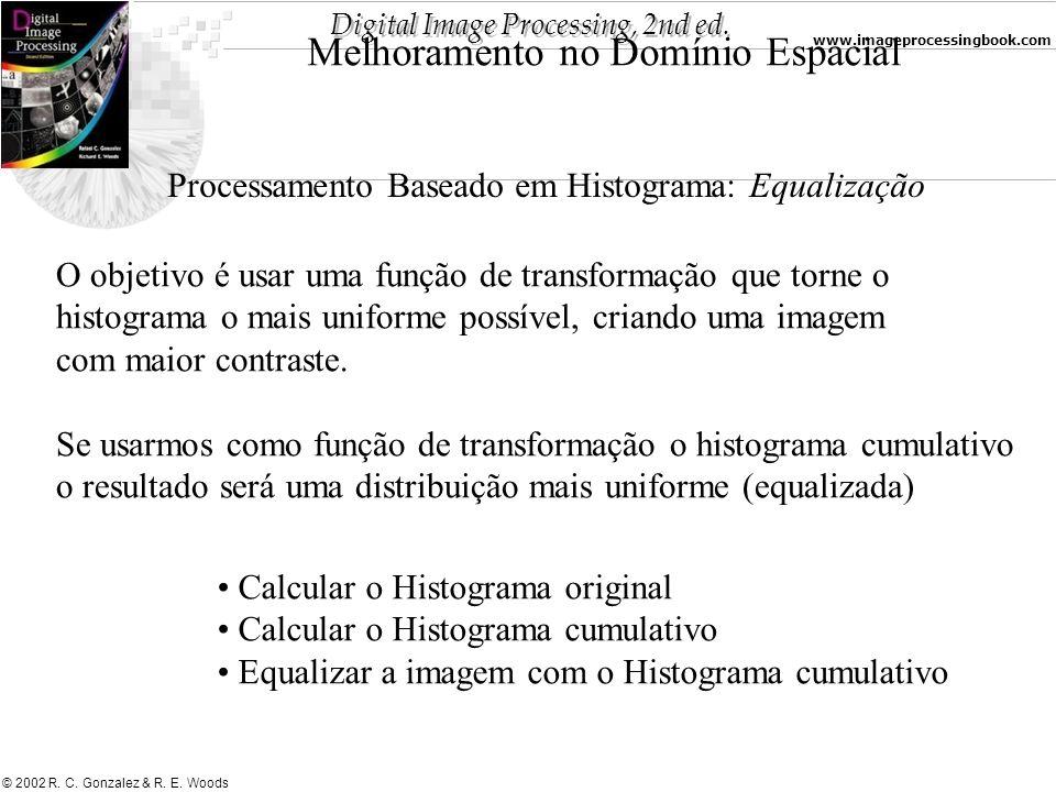 Digital Image Processing, 2nd ed. www.imageprocessingbook.com © 2002 R. C. Gonzalez & R. E. Woods Melhoramento no Domínio Espacial Processamento Basea