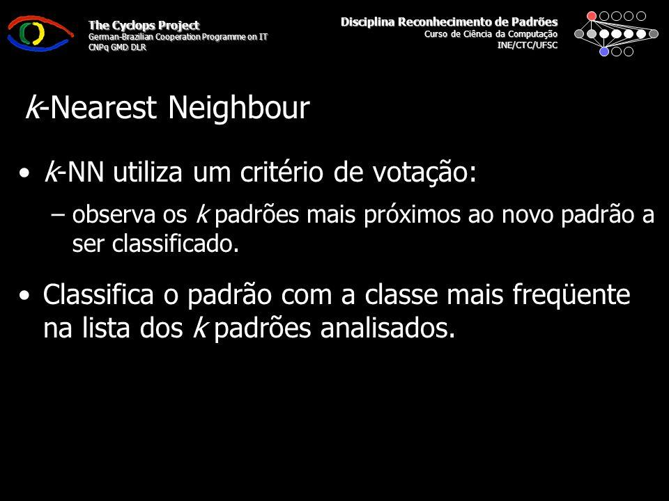 Disciplina Reconhecimento de Padrões Curso de Ciência da Computação INE/CTC/UFSC The Cyclops Project German-Brazilian Cooperation Programme on IT CNPq GMD DLR ?