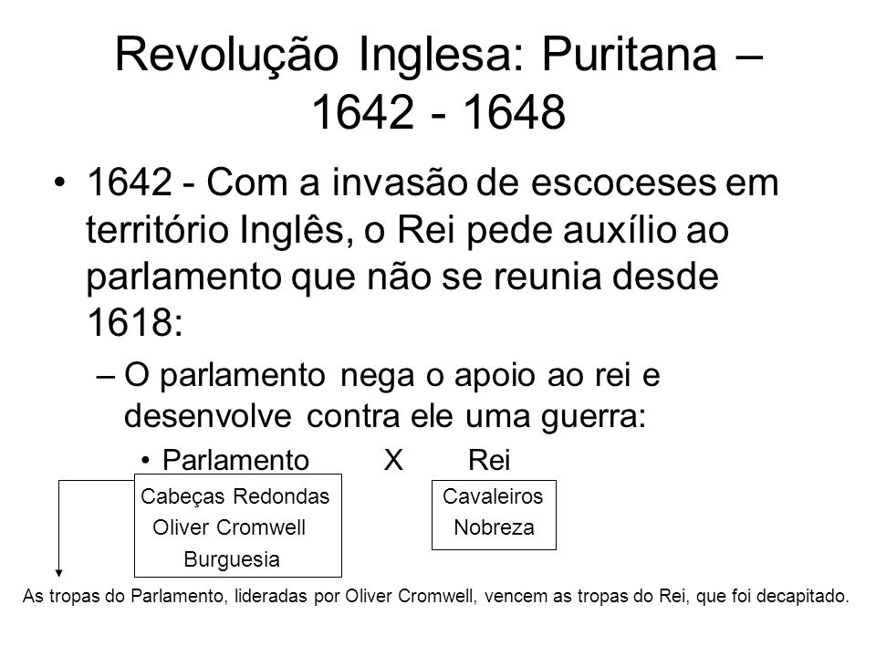 Governo de Oliver Cromwell Transforma a Inglaterra em uma República – único caso na história desse país.