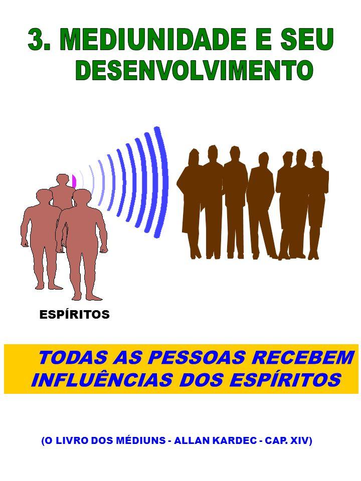 ESPÍRITOS TODAS AS PESSOAS RECEBEM INFLUÊNCIAS DOS ESPÍRITOS (O LIVRO DOS MÉDIUNS - ALLAN KARDEC - CAP. XIV)