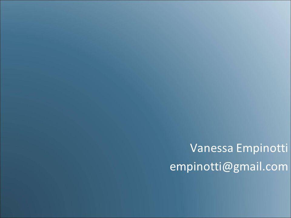 Vanessa Empinotti empinotti@gmail.com