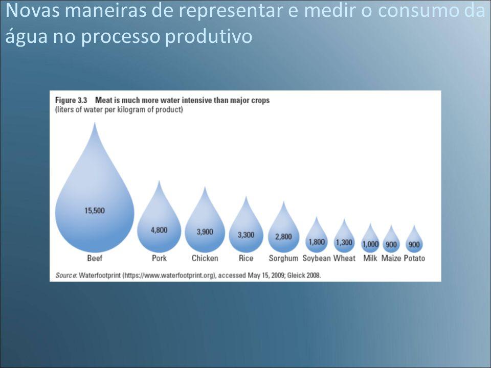 Novas maneiras de representar e medir o consumo da água no processo produtivo