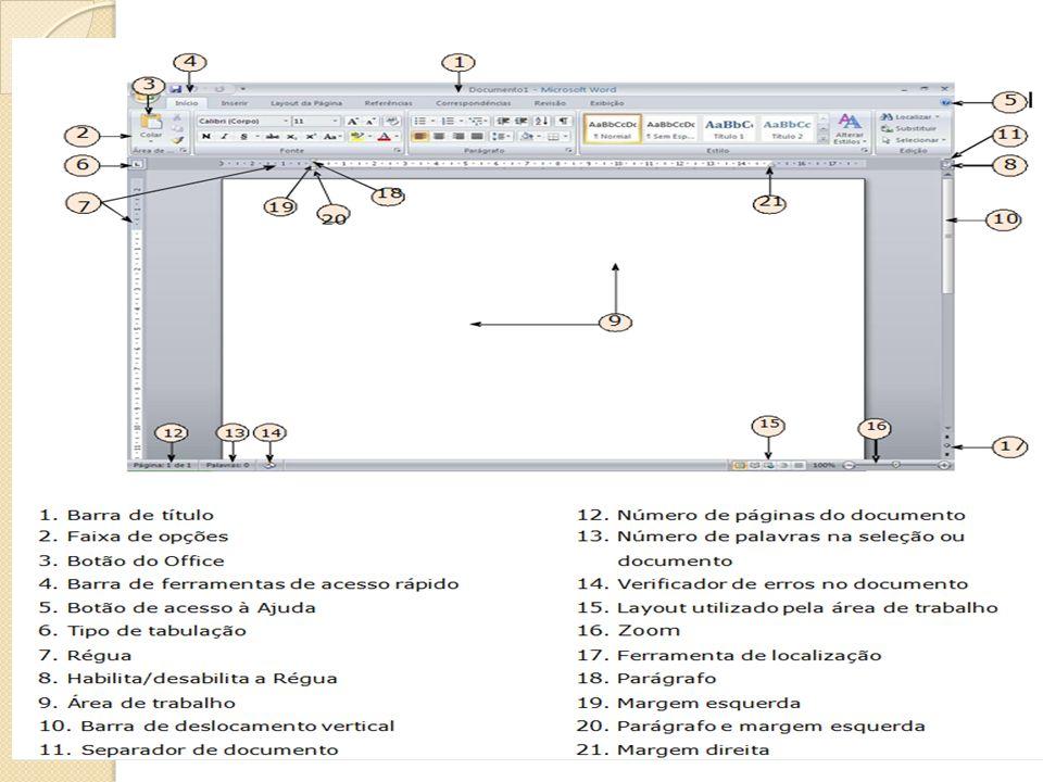 Word Atalhos de Teclado Os atalhos que iniciam com a tecla CTRL (por exemplo, CTRL+C para copiar), permanecem iguais aos das versões anteriores do Word.