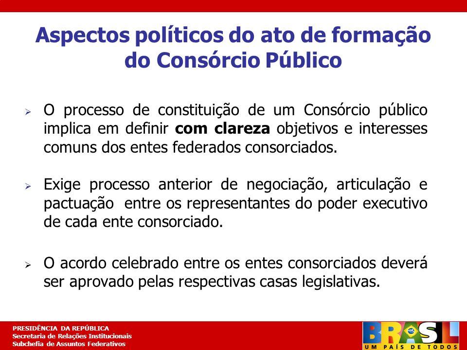 Planejamento Estratégico PRESIDÊNCIA DA REPÚBLICA Secretaria de Relações Institucionais Subchefia de Assuntos Federativos Aspectos políticos do ato de