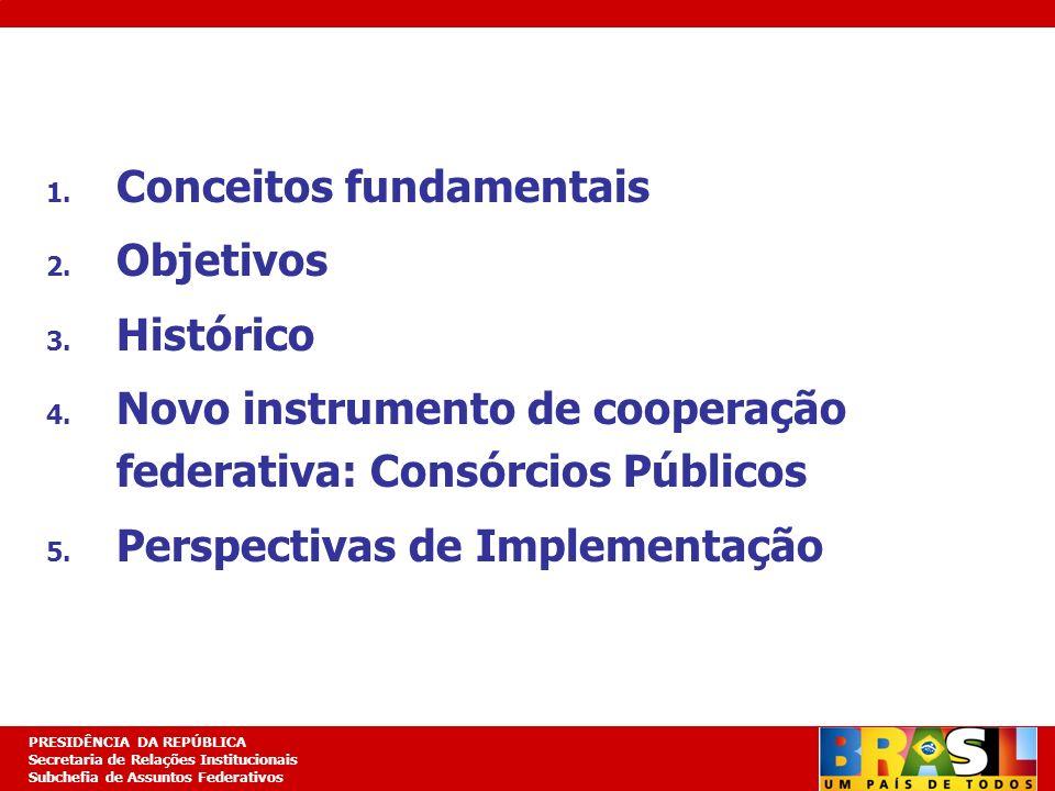 Planejamento Estratégico PRESIDÊNCIA DA REPÚBLICA Secretaria de Relações Institucionais Subchefia de Assuntos Federativos 1. Conceitos fundamentais 2.