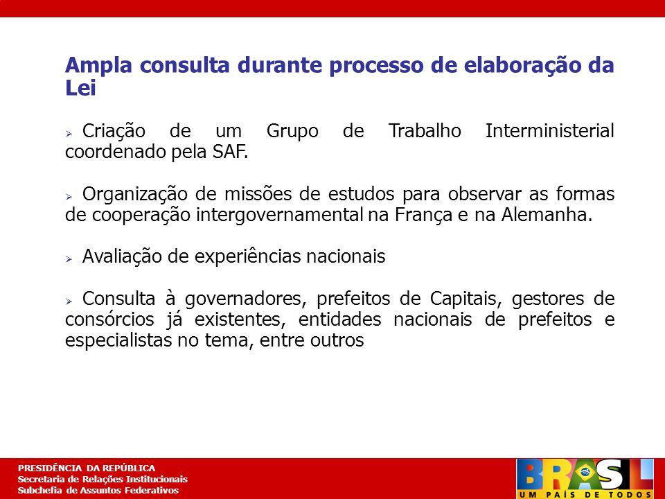 Planejamento Estratégico PRESIDÊNCIA DA REPÚBLICA Secretaria de Relações Institucionais Subchefia de Assuntos Federativos Ampla consulta durante proce