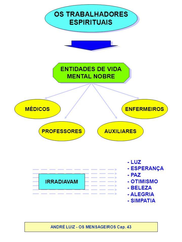 OS TRABALHADORES ESPIRITUAIS OS TRABALHADORES ESPIRITUAIS ENTIDADES DE VIDA MENTAL NOBRE ENTIDADES DE VIDA MENTAL NOBRE PROFESSORES MÉDICOSENFERMEIROS