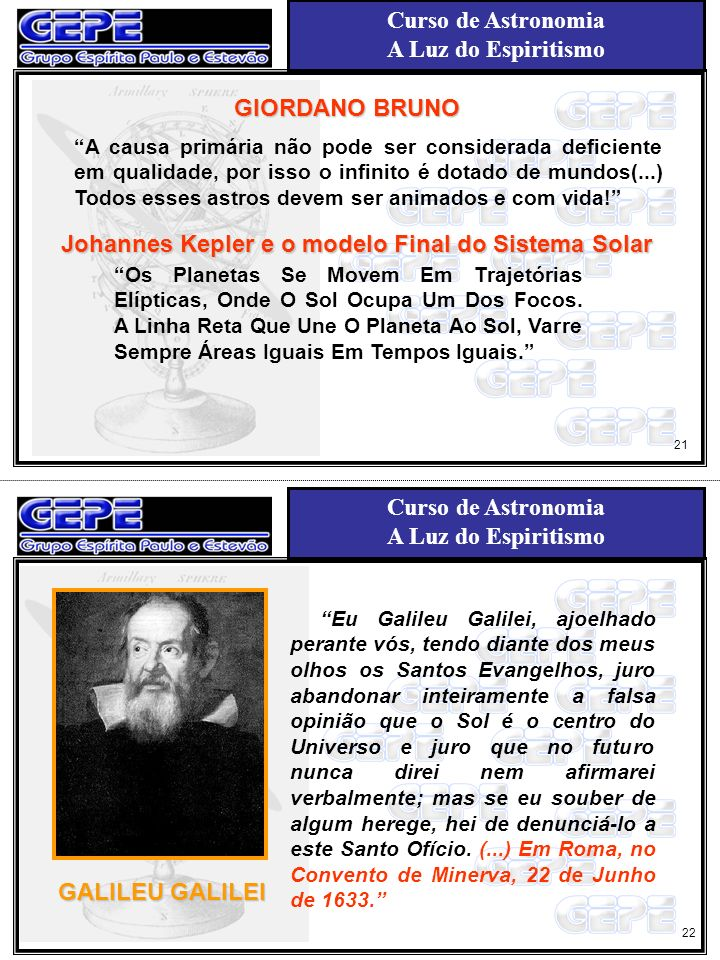 Curso de Astronomia A Luz do Espiritismo Curso de Astronomia A Luz do Espiritismo Johannes Kepler e o modelo Final do Sistema Solar Os Planetas Se Mov