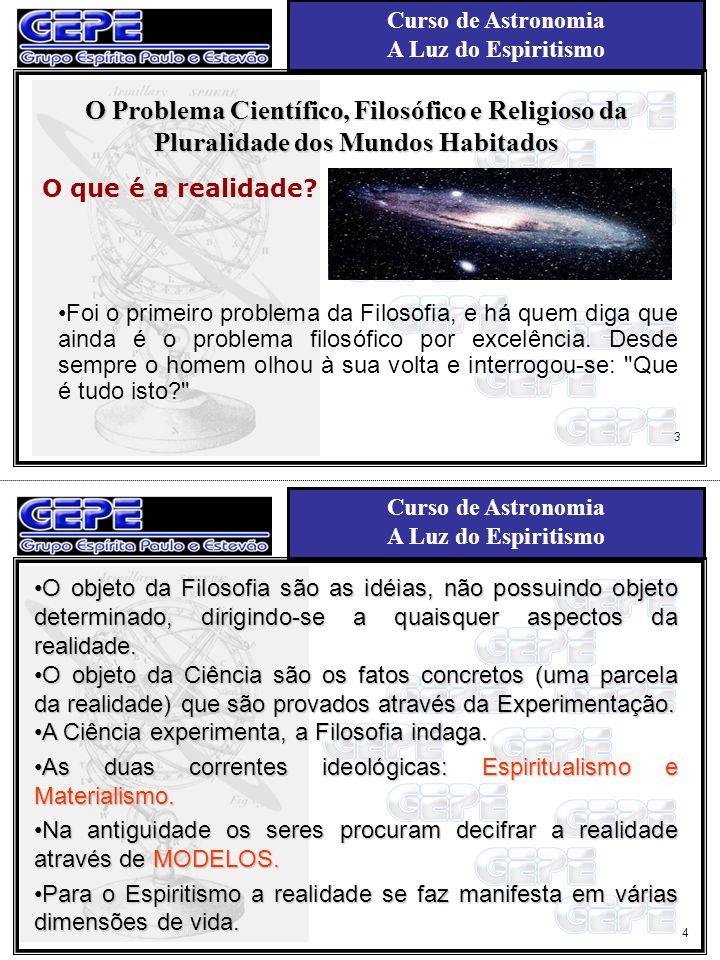 Curso de Astronomia A Luz do Espiritismo Curso de Astronomia A Luz do Espiritismo Aula N°2 História da Astronomia e da idéia da pluralidade dos mundos habitados Astronomia é, provavelmente, a mais antiga entre todas as ciências.