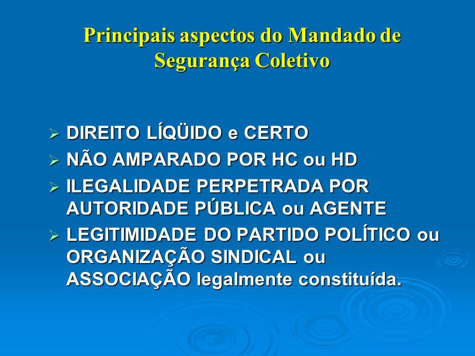MANDADO DE SEGURANÇA MANDADO DE SEGURANÇA Constituição Federal – artigo 5º: LXIX - conceder-se-á mandado de segurança para proteger direito líquido e