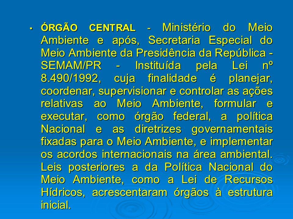 ÓRGÃO CONSULTIVO E DELIBERATIVO - Conselho Nacional do Meio Ambiente – CONAMA ÓRGÃO CONSULTIVO E DELIBERATIVO - Conselho Nacional do Meio Ambiente – C