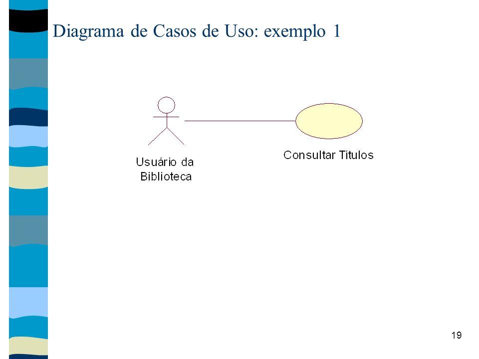 19 Diagrama de Casos de Uso: exemplo 1