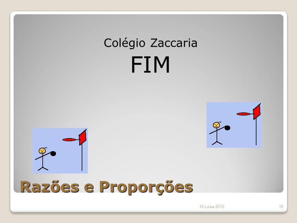 Razões e Proporções Colégio Zaccaria FIM M.Luisa 201315