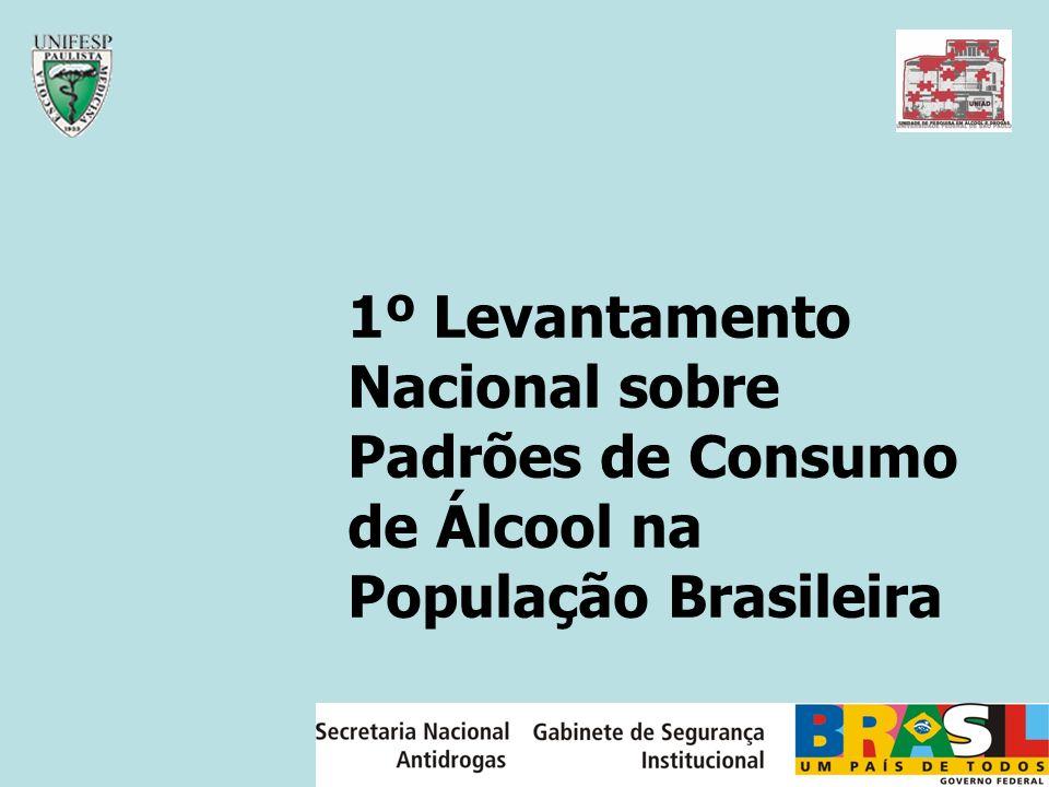 1º Levantamento Nacional sobre Padrões de Consumo de Álcool na População Brasileira