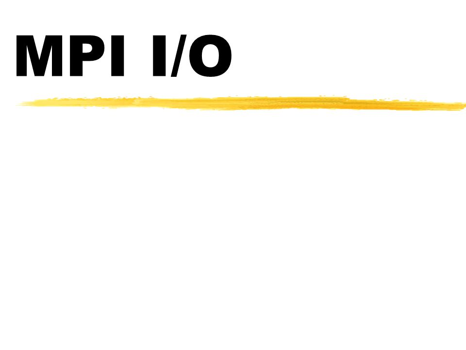 MPI I/O Rotinas de Acesso