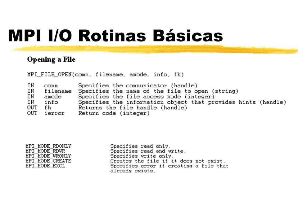 MPI I/O Rotinas Básicas