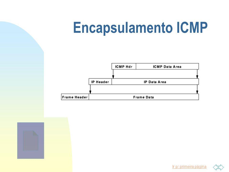 Ir p/ primeira página Encapsulamento ICMP
