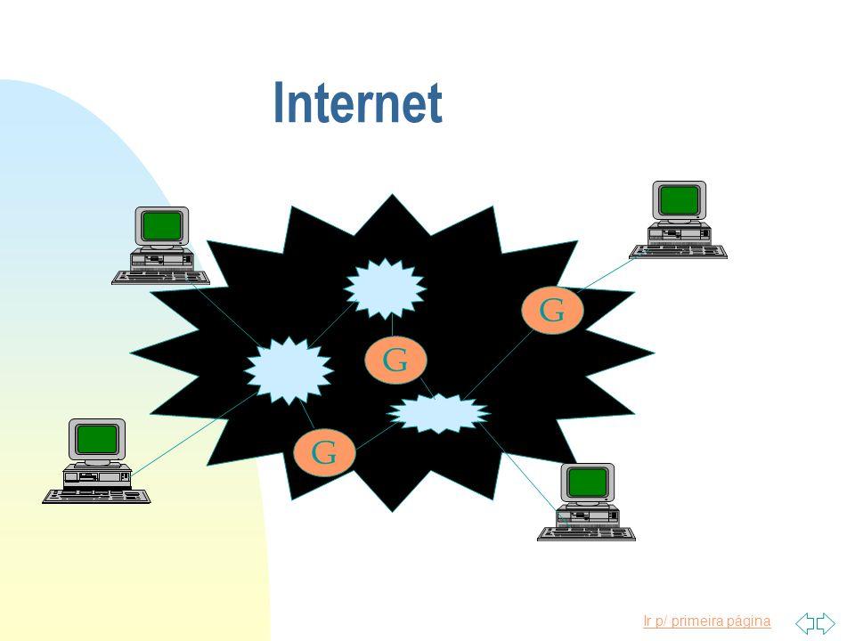 Ir p/ primeira página Internet GGG